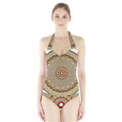Mandala Art Ornament Pattern Halter Swimsuit