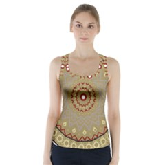 Mandala Art Ornament Pattern Racer Back Sports Top by Nexatart