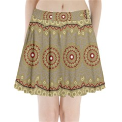 Mandala Art Ornament Pattern Pleated Mini Skirt
