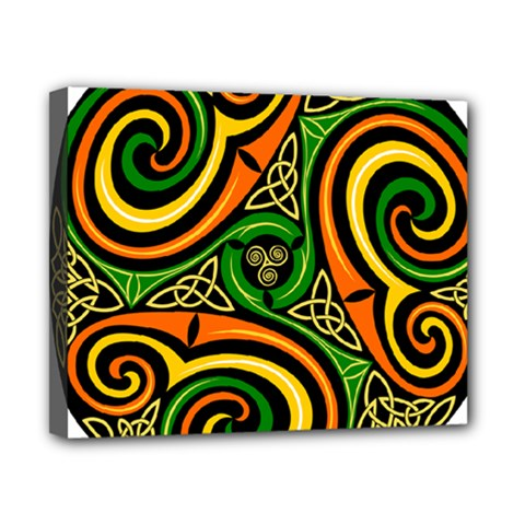 Celtic Celts Circle Color Colors Canvas 10  X 8