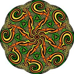 Celtic Celts Circle Color Colors Straight Umbrellas