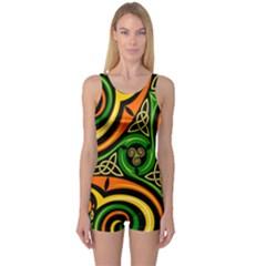 Celtic Celts Circle Color Colors One Piece Boyleg Swimsuit