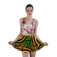Celtic Celts Circle Color Colors Mini Skirt