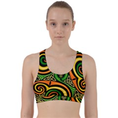 Celtic Celts Circle Color Colors Back Weave Sports Bra by Nexatart