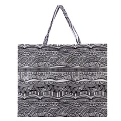 Ethno Seamless Pattern Zipper Large Tote Bag by Nexatart