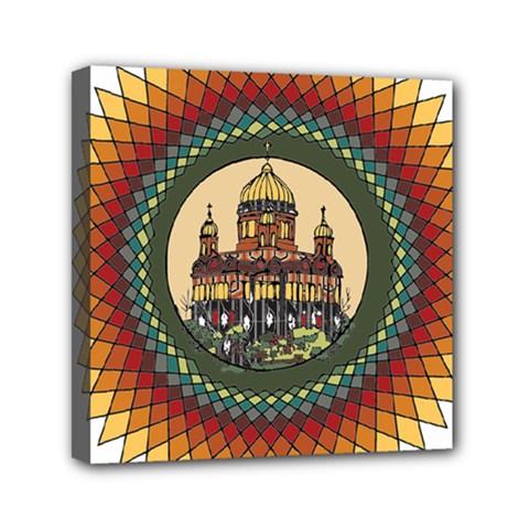Building Mandala Palace Mini Canvas 6  X 6  by Nexatart