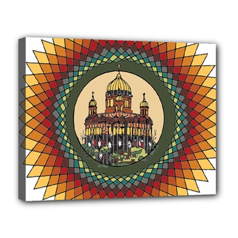 Building Mandala Palace Canvas 14  X 11  by Nexatart