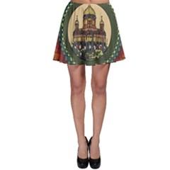 Building Mandala Palace Skater Skirt