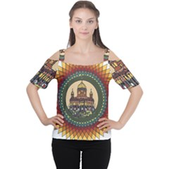 Building Mandala Palace Cutout Shoulder Tee