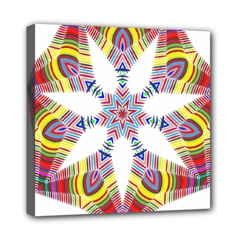 Colorful Chromatic Psychedelic Mini Canvas 8  X 8  by Nexatart