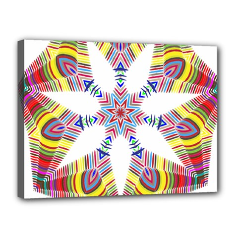 Colorful Chromatic Psychedelic Canvas 16  X 12  by Nexatart