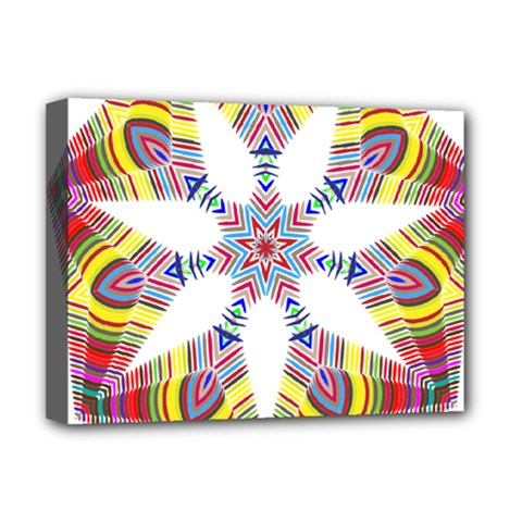 Colorful Chromatic Psychedelic Deluxe Canvas 16  X 12   by Nexatart