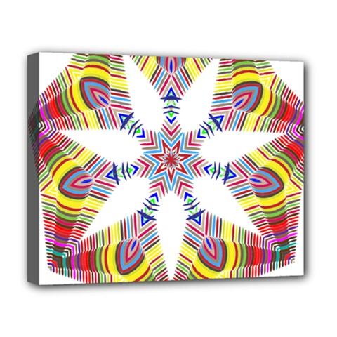 Colorful Chromatic Psychedelic Deluxe Canvas 20  X 16
