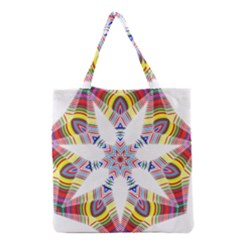 Colorful Chromatic Psychedelic Grocery Tote Bag by Nexatart