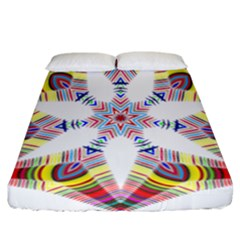 Colorful Chromatic Psychedelic Fitted Sheet (california King Size)