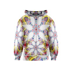 Colorful Chromatic Psychedelic Kids  Zipper Hoodie