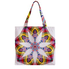 Colorful Chromatic Psychedelic Zipper Grocery Tote Bag
