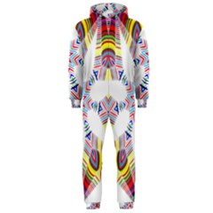 Colorful Chromatic Psychedelic Hooded Jumpsuit (men)
