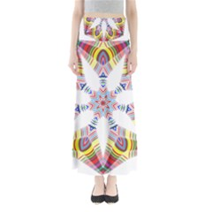 Colorful Chromatic Psychedelic Full Length Maxi Skirt