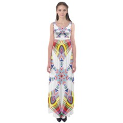 Colorful Chromatic Psychedelic Empire Waist Maxi Dress