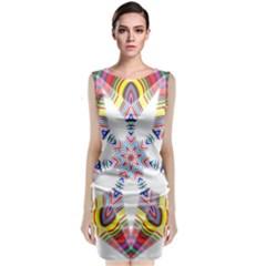 Colorful Chromatic Psychedelic Classic Sleeveless Midi Dress