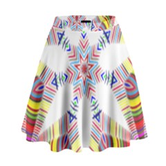 Colorful Chromatic Psychedelic High Waist Skirt