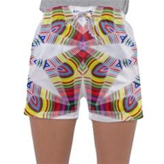 Colorful Chromatic Psychedelic Sleepwear Shorts