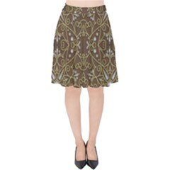 Majestic Pattern D Velvet High Waist Skirt by MoreColorsinLife