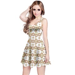 Multicolor Graphic Pattern Reversible Sleeveless Dress by dflcprints