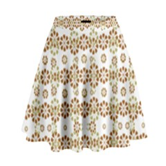 Multicolor Graphic Pattern High Waist Skirt by dflcprints