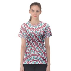 Multicolor Graphic Pattern Women s Sport Mesh Tee by dflcprints