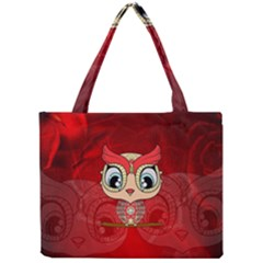 Cute Colorful  Owl, Mandala Design Mini Tote Bag by FantasyWorld7