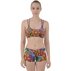 Colorful Abstract Pattern Kaleidoscope Women s Sports Set by paulaoliveiradesign