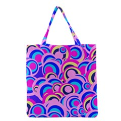 Retro Pattern 1973b Grocery Tote Bag by MoreColorsinLife