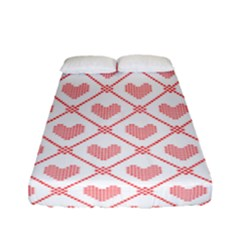Heart Pattern Fitted Sheet (full/ Double Size) by stockimagefolio1
