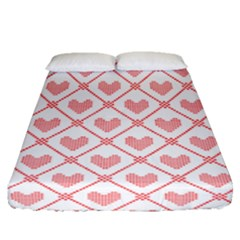 Heart Pattern Fitted Sheet (queen Size) by stockimagefolio1