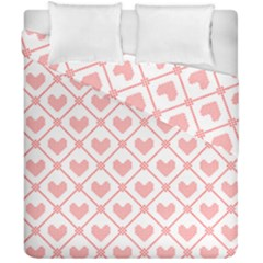 Heart Pattern Duvet Cover Double Side (california King Size) by stockimagefolio1