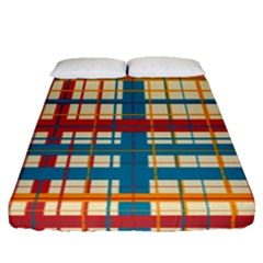 Plaid Pattern Fitted Sheet (queen Size) by linceazul