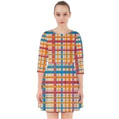 Plaid Pattern Smock Dress