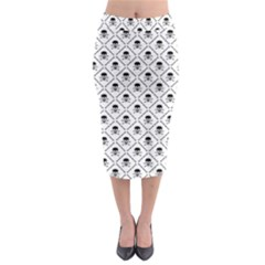 Skull Digital Paper Midi Pencil Skirt by stockimagefolio1
