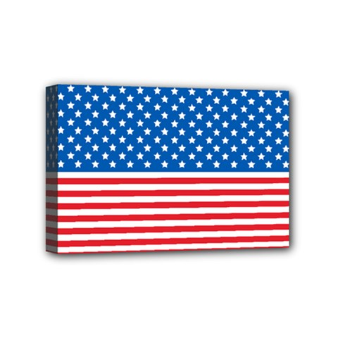 Usa Flag Mini Canvas 6  X 4  by stockimagefolio1