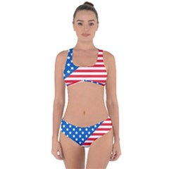 Usa Flag Criss Cross Bikini Set