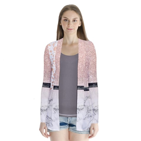 Drape Collar Cardigan