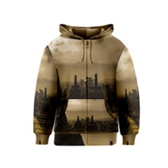 Borobudur Temple Indonesia Kids  Zipper Hoodie