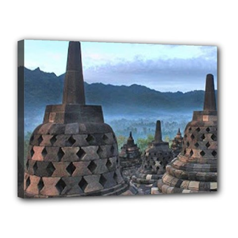 Borobudur Temple  Morning Serenade Canvas 16  X 12