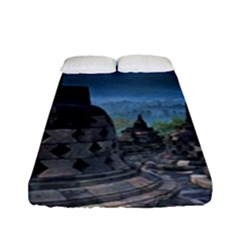 Borobudur Temple  Morning Serenade Fitted Sheet (full/ Double Size)
