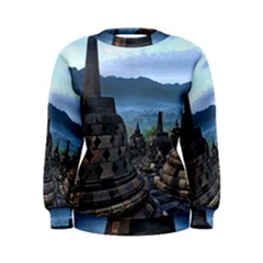 Borobudur Temple  Morning Serenade Women s Sweatshirt