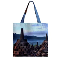 Borobudur Temple  Morning Serenade Zipper Grocery Tote Bag by Nexatart