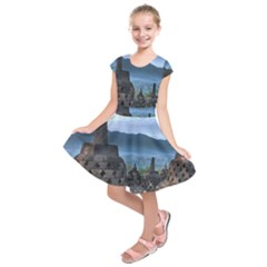 Borobudur Temple  Morning Serenade Kids  Short Sleeve Dress