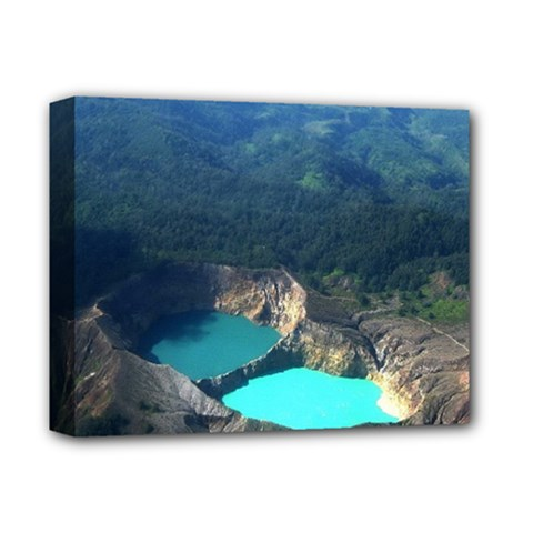 Kelimutu Crater Lakes  Indonesia Deluxe Canvas 14  X 11